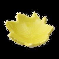 イエロ- 楓形小皿    く09-026-37 寸法:7.5×7×3H㎝ 40g