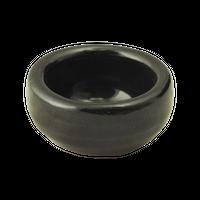 黒釉 厚口珍味(ミニ)    く09-030-30 寸法:5φ×2.5H㎝ 40g