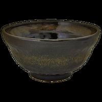 金彩天目 4.8段付丼(小)    く09-105-21 寸法:14.5φ×7.5H㎝ 440g