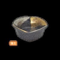(強)黒ちらし金銀三角塗 2.8四方丼    く09-001-12 寸法:8.5×8.5×3.5H㎝ 90g