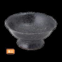 (強)黒ちらし 花形高台小鉢    く09-016-06 寸法:12.5φ×6H㎝  200g