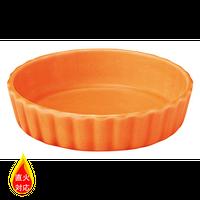 フラップ グロス オレンジ 16cmタパス    496-13751095 寸法:16φ×3.2H㎝