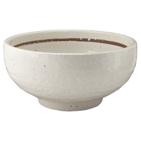 粉引ライン(石目)高浜5.5丼    く09-102-39 寸法:17.5φ×8.5H㎝ 735g
