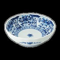 間取藍花 RI多用鉢    く09-012-31 寸法:φ16.5×5.5cm 360g