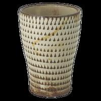 手彫り(飛びカンナ)フリーカップ(大)    く09-125-05 寸法:7.5φ×11H㎝ 200g