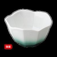 (強)グリン吹桔梗型小鉢(大)    く09-023-01 寸法:10φ×5.5H㎝ 200g