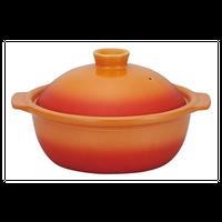 ポトフ 8号鍋 ベイクオレンジ    496-19851008 寸法:30×26×16.2H㎝ 2,500cc