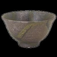 備前たすき 反茶碗(大)    く09-110-34 寸法:15φ×8.5H㎝ 400g