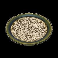 織部唐草 4.0皿    く09-079-29 寸法:12.5φ×1.8H㎝ 150g