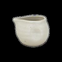 粉引釉 変形汁次(マイクロ)    く09-122-30 寸法:8×6.5×6H㎝・140㏄ 100g