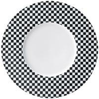 トレーセ ブラック 30cmサービングプレート    寸法:30.3φ×2.5H㎝