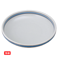(強)ブラウンライン 7.0浅鉢    く09-071-18 寸法:20φ×4.5H㎝ 600g