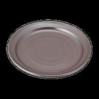紅銀彩(リム付)7.5丸皿    く09-065-25 寸法:22.5φ×3H㎝ 580g