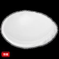 (強)ホワイト オ-バル6.0向付    く09-074-11 寸法:18×17.5×4H㎝ 500g