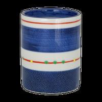 古染こますじ筒型長湯呑み(小)    く09-115-23 寸法:6.5φ×8.3H㎝ 155g