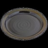金彩天目(リム付)8.5丸皿    く09-065-20 寸法:25.5φ×3.5H㎝ 750g