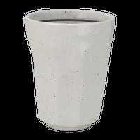 粉引ライン けずりフリーカップ    く09-125-16 寸法:8.7φ×11H㎝ 315cc 300g