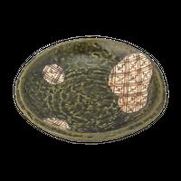 格子織部 3.5丸皿    く09-084-22 寸法:11.5φ×2H㎝ 140g