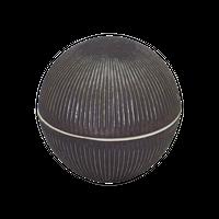 しのぎ彫 丸型蓋物(金結晶)    く09-036-25 寸法:9.7φ×9.5H㎝ 250g