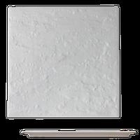 白磁 石肌正角27cm皿    く09-058-26 寸法:27×27×1.2H㎝ 1200g