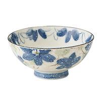 花かおり(青) 丸型茶碗    498-HNKMAKO 寸法:φ11.5×5.5cm