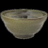 深緑 6.0段付丼(大)    く09-102-24 寸法:18φ×9.5H㎝ 800g