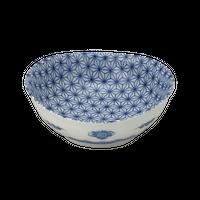 麻の葉 楕円3.8鉢    く09-093-37 寸法:11×10.5×4.5H㎝ 160g