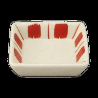 十草角珍味皿    く09-027-04 寸法:6×6×1.5H㎝ 40g