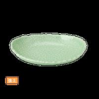 (強)NRヒワ青磁 5.0楕円ボ-ル    く09-012-06 寸法:15×11×3H㎝ 200g