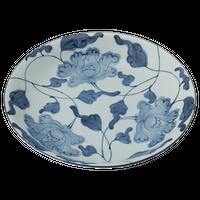 牡丹唐草 12.0皿    く09-062-05 寸法:36.5φ×6H㎝ 1965g