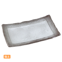 (強)伊賀白吹(浜付)焼物皿    く09-049-11 寸法:24×14×4H㎝ 500g