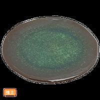 (強)新緑ビ-ドロ(渕削)7.5丸皿    く09-068-09 寸法:23φ×2H㎝ 700g