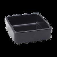 ブラック 3.0角形丼    く09-021-30 寸法:8.5×8.5×3H㎝