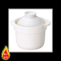1合炊き 白    496-19801001 寸法:16.5×13.5×14.5H㎝