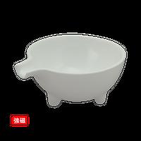 (強)白磁片口小鉢(中)    く09-024-34 寸法:12.5×10.7×5.5H㎝ 200g