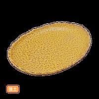 (強)NRキャラメル 6.0小判皿    く09-080-08 寸法:17.5×11.5×2H㎝ 220g
