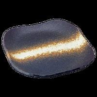 いぶし備前 撫正角盛皿    く09-058-32 寸法:24.5×24.5×3.5H㎝ 1000g