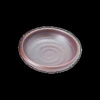 鳴門 赤茶備前 8cm深皿    く09-007-32 寸法:8.3φ×2.3H㎝ 60g