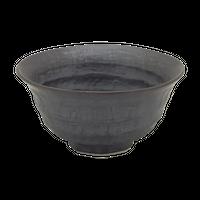 いぶし黒(六べ)茶碗(小)    く09-112-14 寸法:12φ×6H㎝ 260g