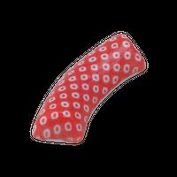 鹿の子 赤 扇 箸置き    く09-144-02 寸法:5.3×2×0.9H㎝ 20g