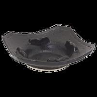 瀬戸黒 灰皿(角)大    く09-143-14 寸法:15.5×15.5×4.5H㎝ 390g