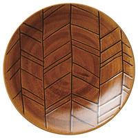 矢羽根27㎝ディナー(アメ)    501-75316402 寸法:D27.2×H3.2 (cm)
