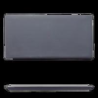 黒マット デザートプレート    く09-083-07 寸法:16×8×0.8H㎝ 240g