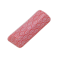 青海波 赤 京枕 箸置き    く09-144-10 寸法:5.7×2×1.1H㎝ 20g