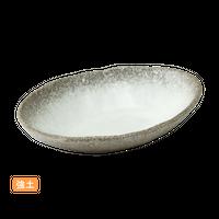 (強)伊賀白吹(楕円)5.0浅鉢    く09-013-02 寸法:16.5×12×3.5H㎝ 200g