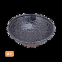 (強)黒ちらし 3.6丸浅鉢    く09-095-09 寸法:11φ×3.5H㎝ 120g