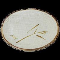 唐津 7.5丸皿    く09-068-10 寸法:23.5φ×2H㎝ 740g