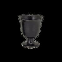 瀬戸黒 陶盃(すずらん型)    く09-123-32 寸法:5.2φ×6.3H㎝ 50㏄ 65g