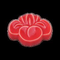 菖蒲 赤 箸置き    く09-145-11 寸法:4.2×1H㎝  30g