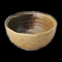 伊賀織部 石垣 9cmボール    く09-020-34 寸法:9.5φ×4.7H㎝ 150g